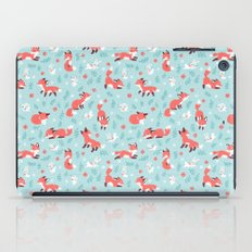 Fox and Bunny Pattern iPad Case