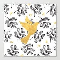 colomba gold Canvas Print
