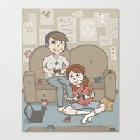 A Couple Who Game Togeth… Canvas Print
