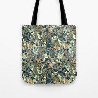 Lucha Pattern(blue&orange) Tote Bag