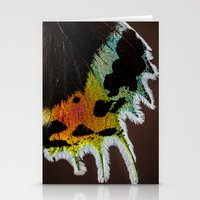Wing of a Madagascan Sunset Moth, Shimmering with the Vivid Imagination of Nature Stationery Cards