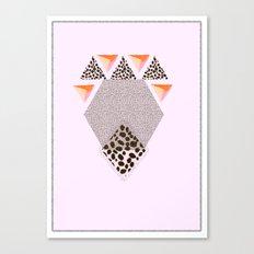 LEOPARD DIAMOND Canvas Print