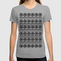 Flowers and stripes Womens Fitted Tee Athletic Grey SMALL