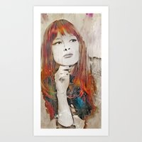 Maybe Portrait Art Print