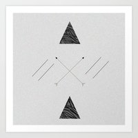 Arrows laced with Noise Art Print