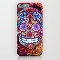 sugar skull iPhone & iPod Cases featuring Sugar Skull by oxana zaika