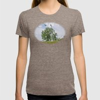 The buzzard tree Womens Fitted Tee Tri-Coffee SMALL