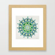 Watercolor Mandala – G… Framed Art Print