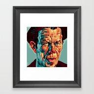 WAITS ZOOM Framed Art Print