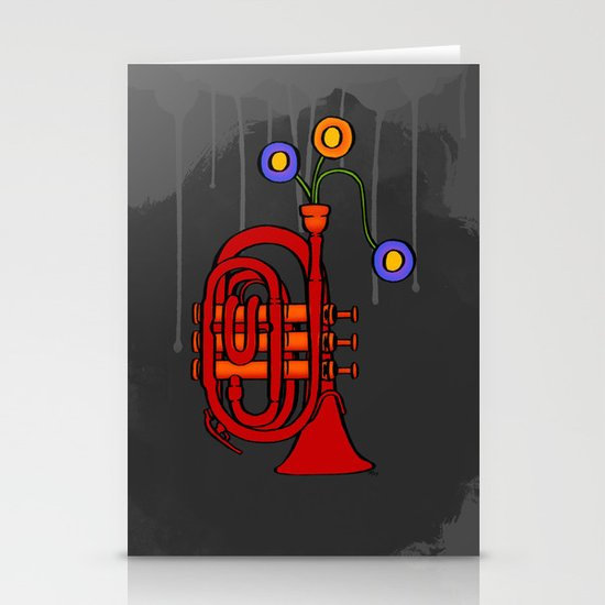 Happy to see my pocket trumpet Stationery Card