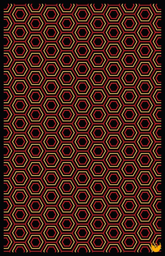 Hexagon Pattern in Red Art Print