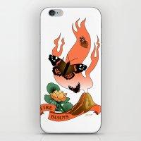 Fire Burns iPhone & iPod Skin