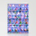 Triangle print Stationery Cards