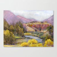 Ruby Mountain Canvas Print