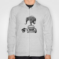 Looking for Tiny, Elephant on a VW beetle Hoody