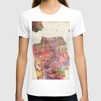 san francisco T-shirts featuring San Francisco by MapMapMaps.Watercolors