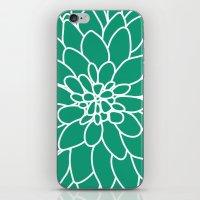 Emerald Dahlia Flower iPhone & iPod Skin