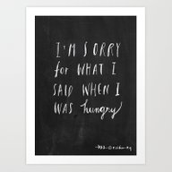 Sorry Quote-  I Am Sorry… Art Print