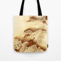 Dinosaur Migration Tote Bag