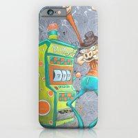 Skinny Pig playing Slot Machine iPhone 6 Slim Case