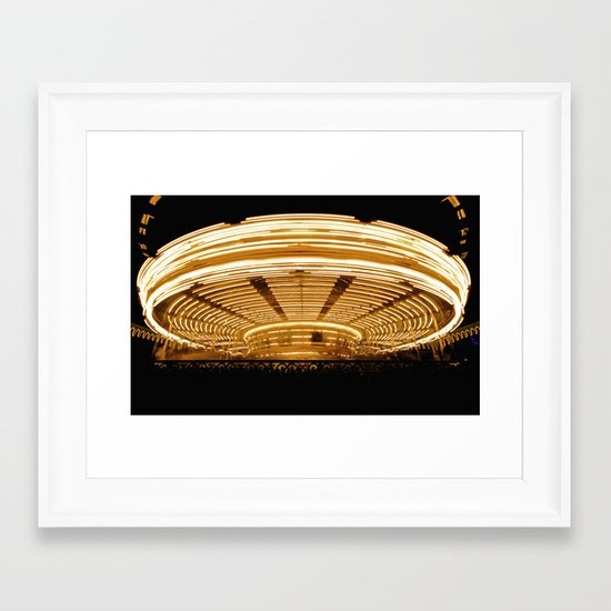 Sit and Spin Framed Art Print