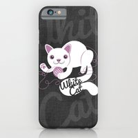 iPhone & iPod Case featuring White Cat by ellis