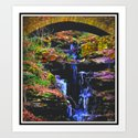 Mystic Waterfall Art Print