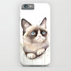 Grumpy Watercolor Cat iPhone 6 Slim Case