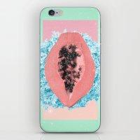 Papaya Rocks iPhone & iPod Skin