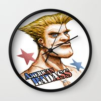 American Badass Wall Clock