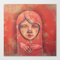 The Ghost in Pink Canvas Print