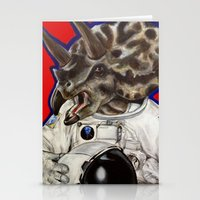 Prehistoric Astronaut Stationery Cards