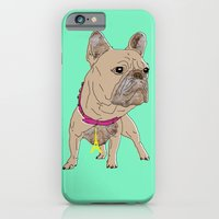 iPhone Cases featuring French Bulldog by BearandBugle