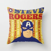 Steve Rogers/Captain Ame… Throw Pillow
