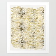 Golden Waves Art Print