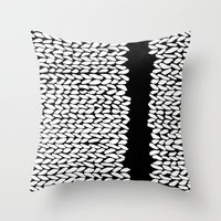 Missing Knit On Side Throw Pillow