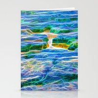 Abstract rock pool in the rough rocks in Queensland Stationery Cards