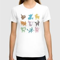 Eeveelution Womens Fitted Tee White SMALL
