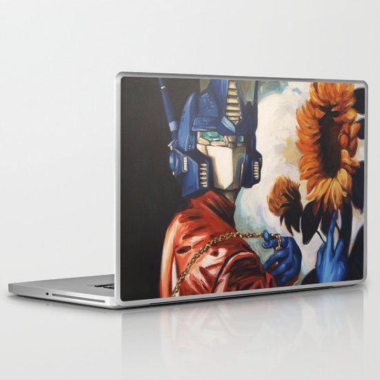 Optimus Prime With Sunflower Laptop & iPad Skin
