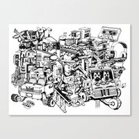 Sketchbook Composite - 1 Canvas Print