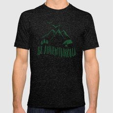 BE ADVENTUROUS Mens Fitted Tee Tri-Black SMALL
