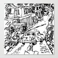 At The Guard Gate (Carac… Canvas Print