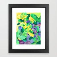 Green Doodle Framed Art Print
