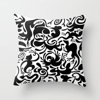 Throw Pillow featuring Creative Pet Project 001 by Creative Pet Project
