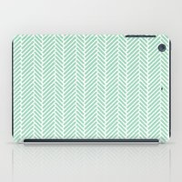 Herringbone Mint Inverse iPad Case