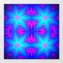 Pink & Blue Star Pattern Canvas Print