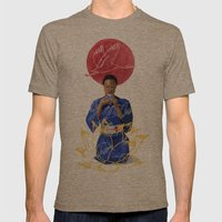 Asian Lotus Mens Fitted Tee Tri-Coffee SMALL
