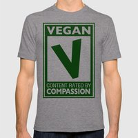 Rated V for Vegan Mens Fitted Tee Tri-Grey SMALL
