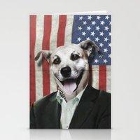Patriotic Dog | USA Stationery Cards