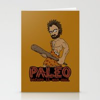 Paleo Before It Was Cool Crossfit Design by RonkyTonk Stationery Cards